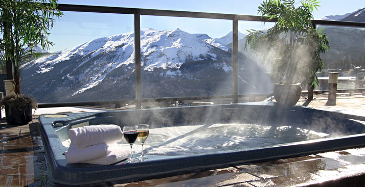 Free Hot Tub >> Steam Room and Hot Tub in the Canadian Rockies - Jasper ...